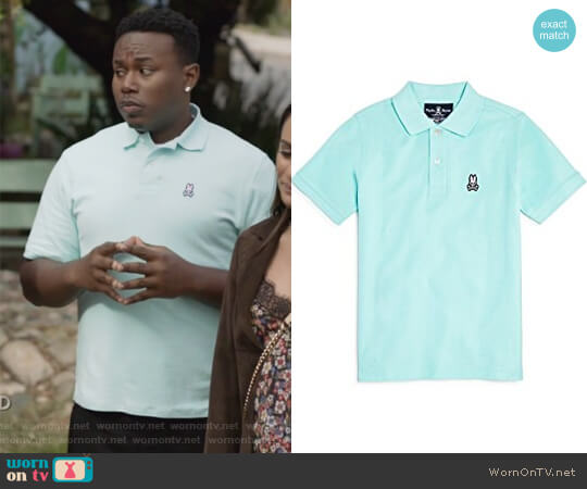 Men's Classic Polo by Psycho Bunny worn by T.K. Clifton (Marcel Spears) on The Mayor