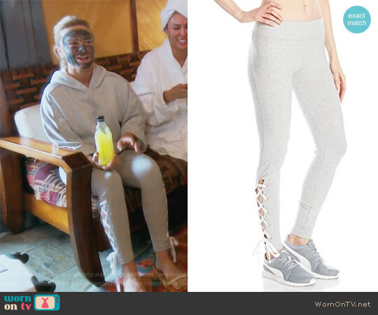 Lace up Leggings by Puma worn by Tamra Judge on The Real Housewives of Orange County