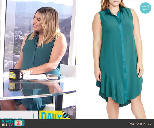 Combo Shirtdress by RACHEL Rachel Roy worn by Carissa Loethen Culiner  on E! News