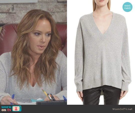'Ace' Cashmere Sweater by Rag & Bone worn by Leah Remini on Kevin Can Wait