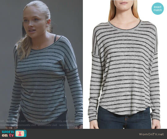'Hudson' Striped Top by Rag & Bone worn by Lauren Strucker (Natalie Alyn Lind) on The Gifted