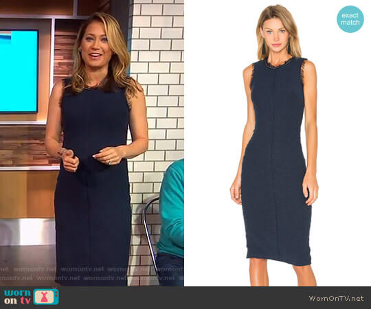 Sleeveless Boucle Shift Dress by Rebecca Taylor worn by Ginger Zee on Good Morning America