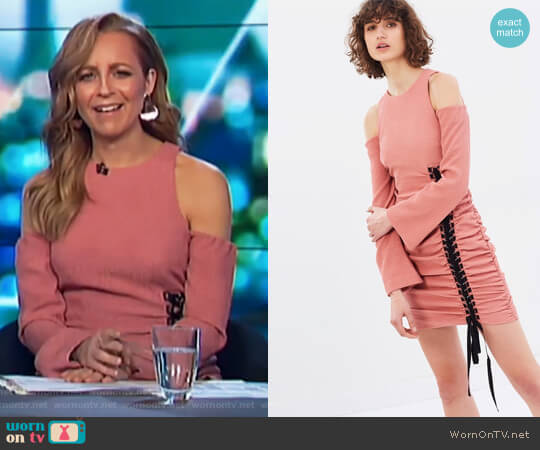 Castella Mini Dress by Rebecca Vallance worn by Carrie Bickmore  on The Project
