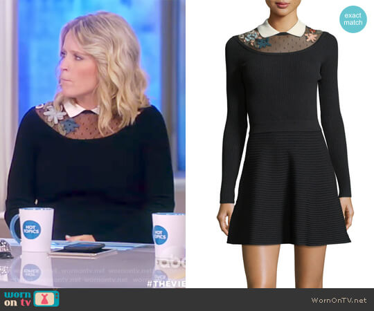 Collared Fit-&-Flare Dress by RED Valentino worn by Sara Haines  on The View
