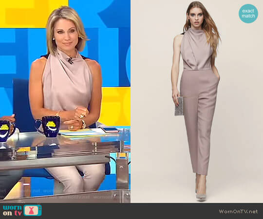 'Kita' Lace Back Jumpsuit by Reiss worn by Amy Robach on Good Morning America