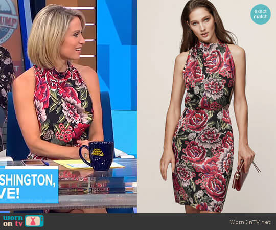 'Xavi' Burnout Detail Dress by Reiss worn by Amy Robach  on Good Morning America