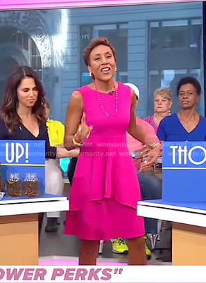 Robin's pink tiered dress on Good Morning America