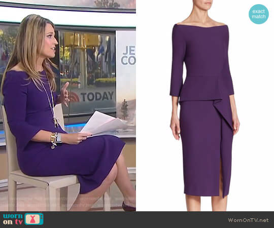 'Ardingly' Peplum Dress by Roland Mouret worn by Savannah Guthrie on Today