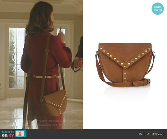 Y-Studded Shoulder Bag by Saint Laurent worn by Cristal Flores (Nathalie Kelley) on Dynasty