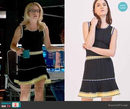 Sandro Nestor Top and Esfir Skirt worn by Emily Bett Rickards on Arrow
