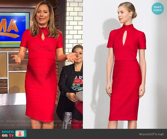 'Harrowden' Knit Dress by Shoshanna worn by Ginger Zee  on Good Morning America