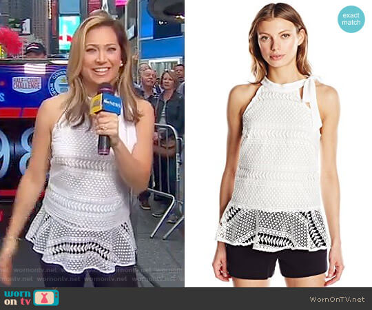 'Wayne' Top by Shoshanna worn by Ginger Zee on Good Morning America