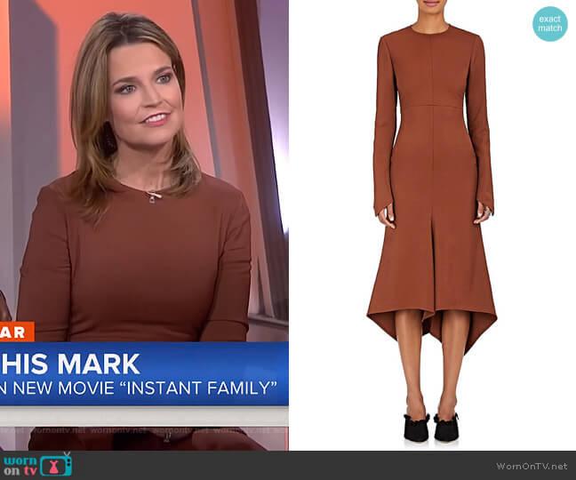 'Dani' Twill Dress by Sies Marjan worn by Savannah Guthrie on Today