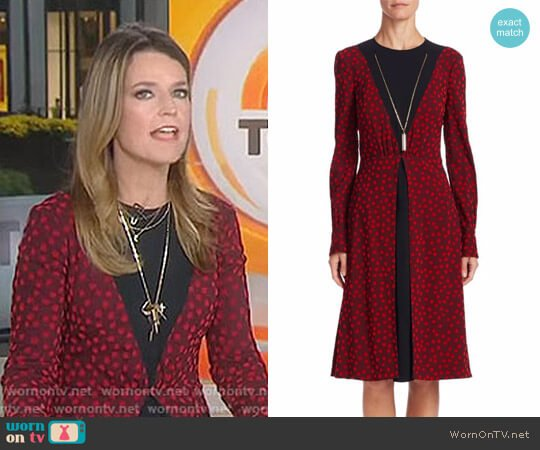 'Taddea' Necklace Dress by Altuzarra worn by Savannah Guthrie  on Today