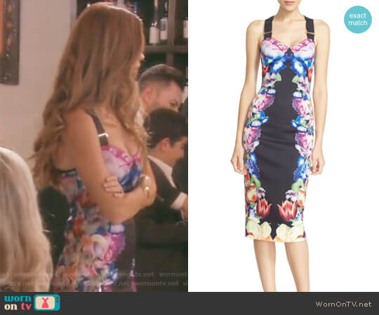 'Deony' Buckle Strap Sheath Dress by Ted Baker London worn by Lydia McLaughlin on The Real Housewives of Orange County