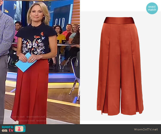 'Elsbeta' Pleated Culottes by Ted Baker worn by Amy Robach  on Good Morning America