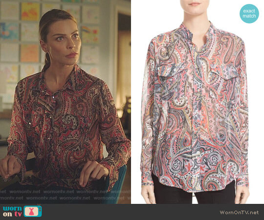 Paisley Print Blouse by The Kooples worn by Chloe Decker (Lauren German) on Lucifer