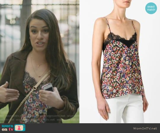 Floral Print Camisole Top by The Kooples worn by Valentina Barella (Lea Michele) on The Mayor