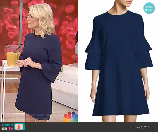 Crepe Bell Sleeve Dress by Tibi worn by Megyn Kelly on Today