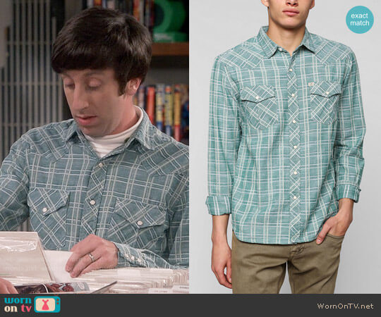 Salt Valley Delco Chambray Plaid Western Shirt worn by Simon Helberg on The Big Bang Theory