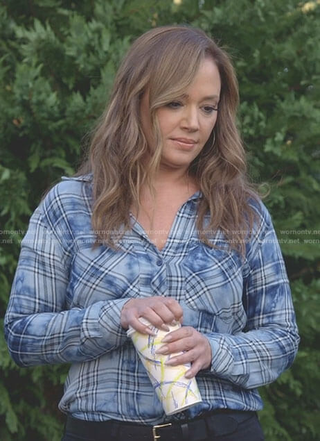 Vanessa's blue plaid shirt on Kevin Can Wait