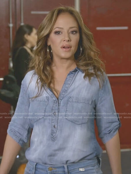 Vanessa's pullover denim top on Kevin Can Wait