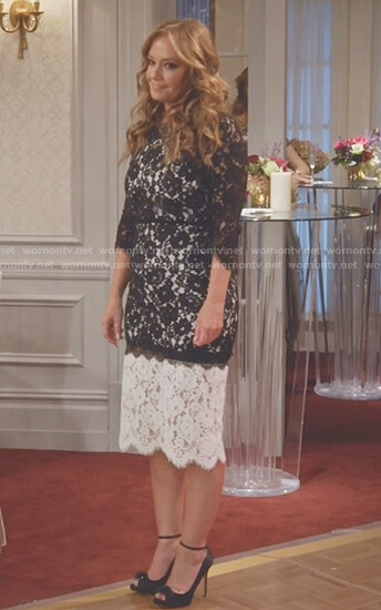Vanessa's two-tone lace dress on Kevin Can Wait