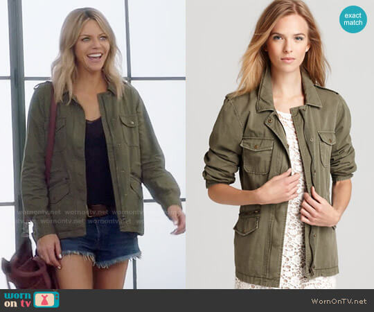 Velvet by Graham & Spencer Army Jacket worn by Kaitlin Olson on The Mick
