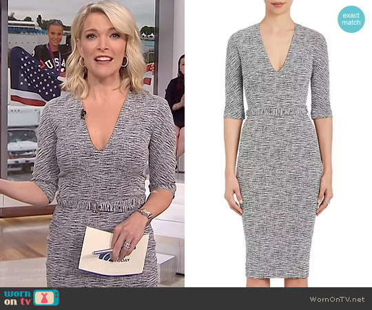 Cotton-Blend Belted Sheath Dress by Victoria Beckham worn by Megyn Kelly on Today