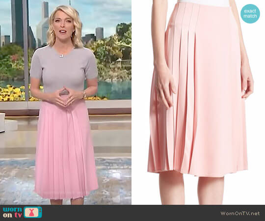Pleated Midi Skirt by Victoria Beckham worn by Megyn Kelly on Today