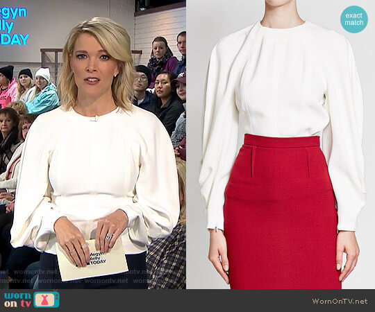 Textured Top with Draped Sleeves by Victoria Beckham worn by Megyn Kelly on Today