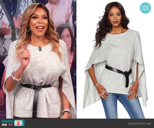 Wendy Williams Sweater Knit Capelet Top by Wendy Williams HSN Collection worn by Wendy Williams  on The Wendy Williams Show