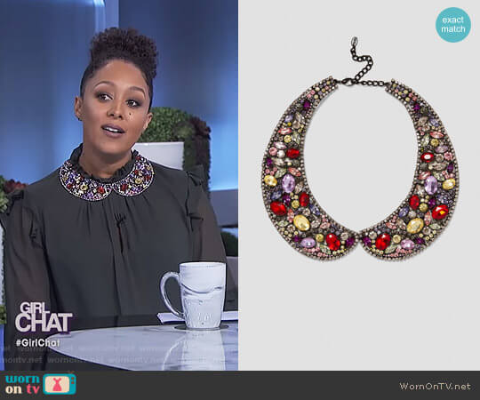 Collar Style Necklace by Zara worn by Tamera Mowry on The Real