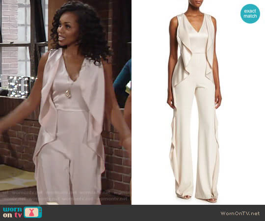 Alice + Olivia Sarandon Jumpsuit worn by Mishael Morgan on The Young & the Restless