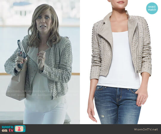 Alice + Olivia Jace Embellished Jacket worn by Pamela Brinton (Kristen Wiig) on Last Man On Earth