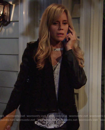 Alice's snake print top on The Young and the Restless