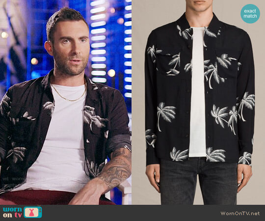 All Saints Offshore Shirt worn by Adam Levine  on The Voice