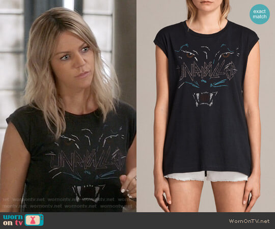 All Saints Onca Brooke Tee worn by Mackenzie Murphy (Kaitlin Olson) on The Mick