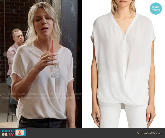 All Saints Twist Top worn by Mackenzie Murphy (Kaitlin Olson) on The Mick