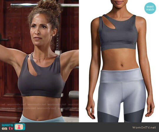 Alo Peak Sports Bra worn by Christel Khalil on The Young & the Restless