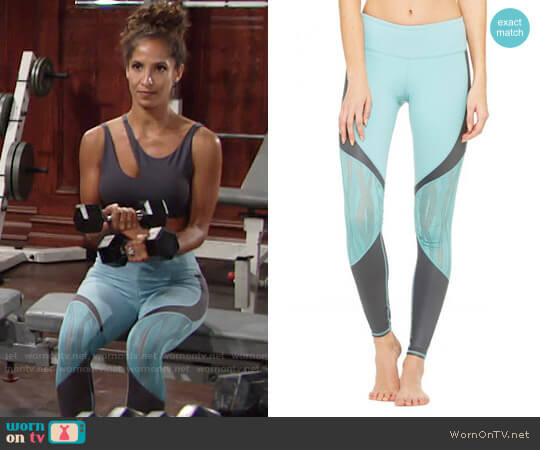 Alo Vitality Mesh Leggings worn by Christel Khalil on The Young & the Restless