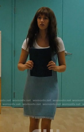 Anezka's chambray slip dress on Jane the Virgin