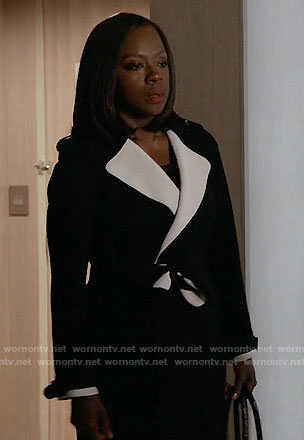 Annalise's black and white coat on How to Get Away with Murder