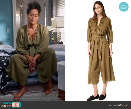 Apiece Apart Isla Wide Leg Jumpsuit worn by Rainbow Johnson (Tracee Ellis Ross) on Blackish