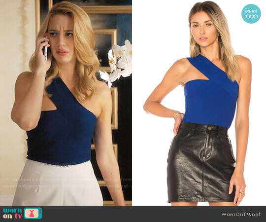 Bailey 44 Ceremonial One-Shoulder Top worn by Petra Solano (Yael Grobglas) on Jane the Virgin