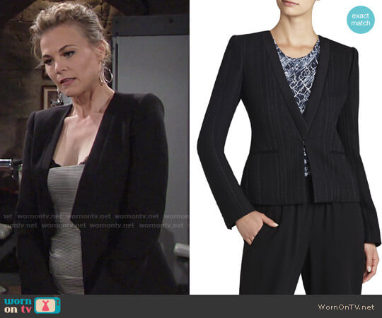 Bcbgmaxazria Leone Blazer worn by Phyllis Newman (Gina Tognoni) on The Young & the Restless