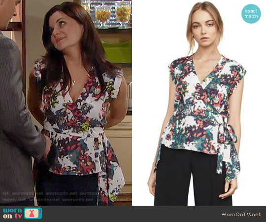 Bcbgmaxazria Sofi Top worn by Heather Tom on The Bold & the Beautiful