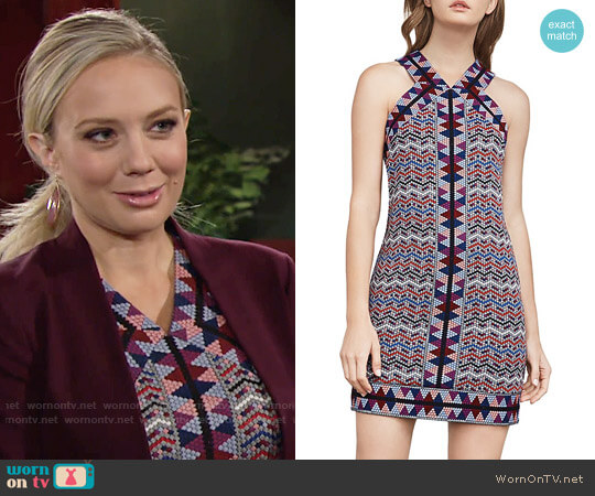 Bcbgmaxazria Tesa Dress worn by Melissa Ordway on The Young & the Restless