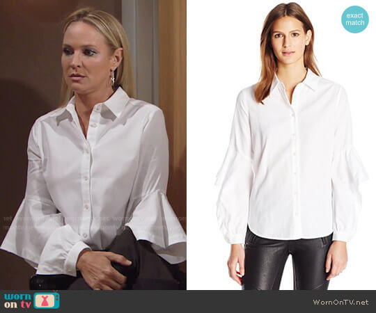 Bcbgmaxazria Thelma Shirt worn by Sharon Case on The Young & the Restless