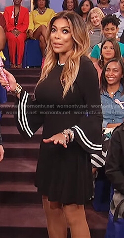 Wendy's bell sleeve knit dress on The Wendy Williams Show